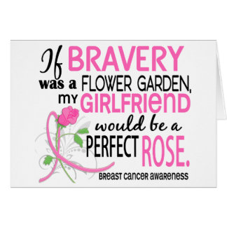 Perfect Rose 2 Girlfriend Breast Cancer Greeting Cards