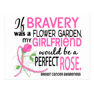 Perfect Rose 2 Girlfriend Breast Cancer Postcard