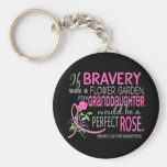 Perfect Rose 2 Granddaughter Breast Cancer Basic Round Button Key Ring