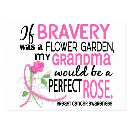 Perfect Rose 2 Grandma Breast Cancer Post Card