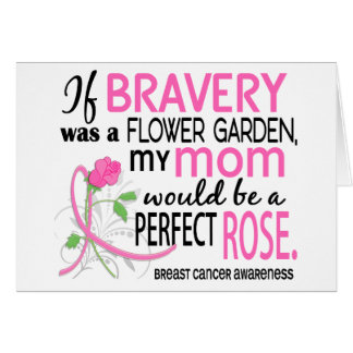 Perfect Rose 2 Mom Breast Cancer Greeting Cards