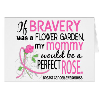 Perfect Rose 2 Mommy Breast Cancer Greeting Card