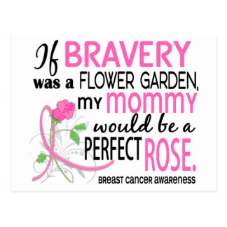 Perfect Rose 2 Mommy Breast Cancer Postcard