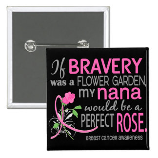 Perfect Rose 2 Nana Breast Cancer 15 Cm Square Badge