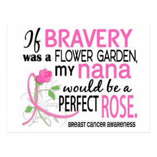 Perfect Rose 2 Nana Breast Cancer Postcard