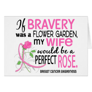 Perfect Rose 2 Wife Breast Cancer Greeting Card