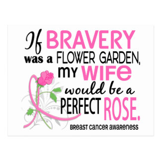 Perfect Rose 2 Wife Breast Cancer Postcard