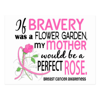 Perfect Rose Mother Breast Cancer Postcard