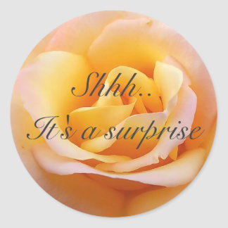 Perfect Rose - Shh. It's a surprise Classic Round Sticker