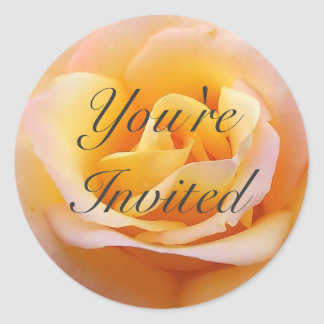 Perfect Rose - You're Invited Classic Round Sticker