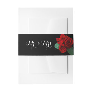 Perfect Roses Belly Band Invitation Belly Band
