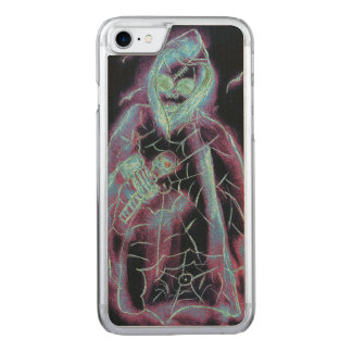 perfect scary skeleton carved iPhone 8/7 case