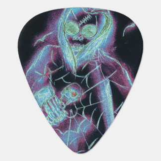 perfect scary skeleton guitar pick