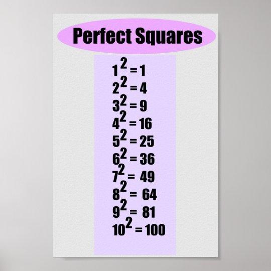 Perfect Square Chart 10