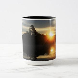 perfect sunrise Two-Tone coffee mug
