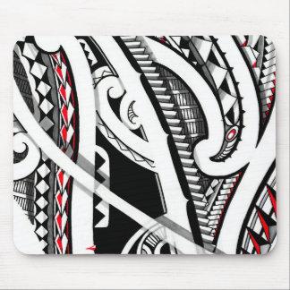 Perfect tribal polynesian/maori tattoo art mouse pad