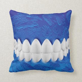 Perfect White Smile Dentist Blue Pillow