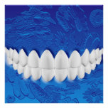 Perfect White Teeth Dentist Orthodontist Poster