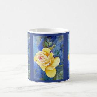 Perfect Yellow Rose in Watercolor Basic White Mug