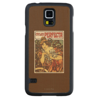 Perfecta Bicycles with Woman Advertisement Poste Maple Galaxy S5 Slim Case