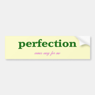 Perfection Car Bumper Sticker