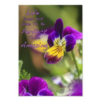 Perfectly Amazing Life 9 Cm X 13 Cm Invitation Card