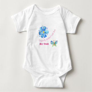 Perfectly Created With Love By God Baby Bodysuit