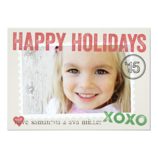 Perfectly Packaged and Stamped Holiday Photo Card 13 Cm X 18 Cm Invitation Card