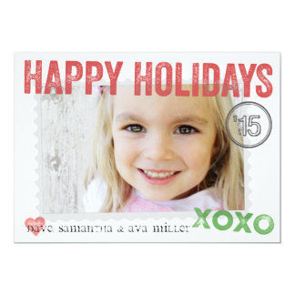 Perfectly Packaged & Stamped Holiday Photo Card 13 Cm X 18 Cm Invitation Card