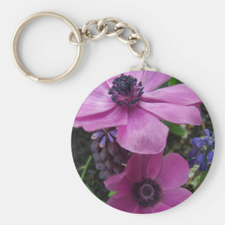 Perfectly Pink Anemone Blossom Key Chain