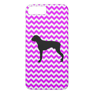 Perfectly Pink Chevron With Boxer iPhone 7 Plus Case