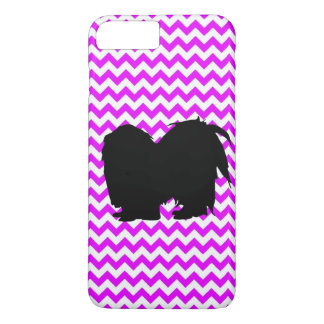 Perfectly Pink Chevron With Shih Tzu iPhone 7 Plus Case
