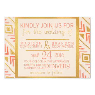 Perfectly Pink Wedding Invitation