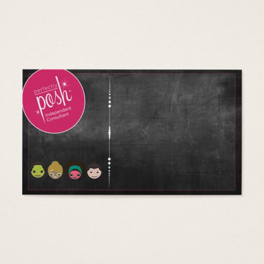 Perfectly Posh Chalkboard Business Card