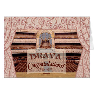 Performance Congratulations, Brava for Female Greeting Card
