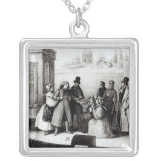 Performance of 'Le Pere Goriot' Silver Plated Necklace