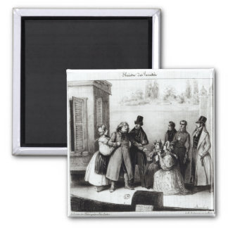 Performance of 'Le Pere Goriot' Square Magnet