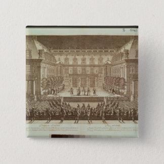 Performance of the opera 'Alceste' 15 Cm Square Badge