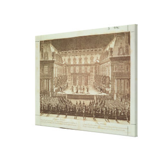 Performance of the opera 'Alceste' Canvas Print