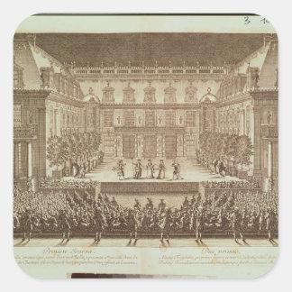 Performance of the opera 'Alceste' Square Sticker