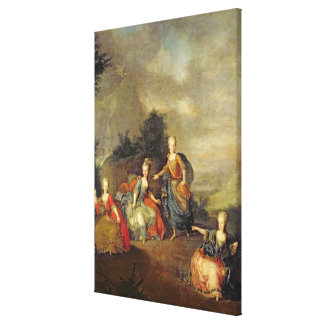 Performance of the opera by Gluck Canvas Print