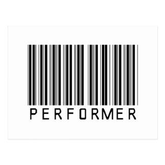 Performer Bar Code Post Cards