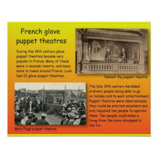 Performing Arts French glove puppets Poster