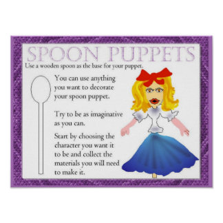 Performing arts, Simple spoon puppets Poster