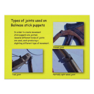 Performing arts, Simple stick puppet joints Poster