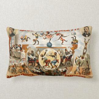 Performing Monkeys Signorita Galetti Circus Throw Pillow