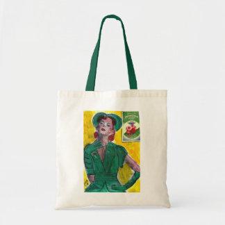 Perfume Ad 1940 s Style Canvas Bag