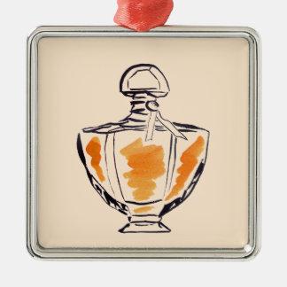 Perfume bottle fashion watercolour illustration christmas ornament