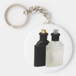 perfume bottles basic round button key ring