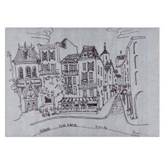 Perfume Museum & Street Scene   Grasse, France Cutting Board